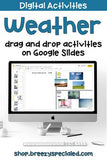 Distance Learning: Weather Digital Interactive Activities for Special Education