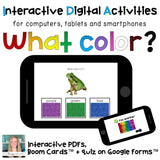 color digital interactive task cards for special education boom learning interactive PDF