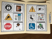 Community Signs File Folders ( 12 pk ) for Special Education