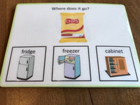 Visual Task Cards - Where Do We Store Food?