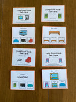 Living Room Vocabulary Life Skills Adaptive Booklet w Task Cards (Special Ed and Autism Resource)
