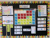 Color Coded Calendar Visuals for Special Education with bonus temperature chart and more