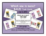 Which one is more? Australian Money Task Cards (Special Education)