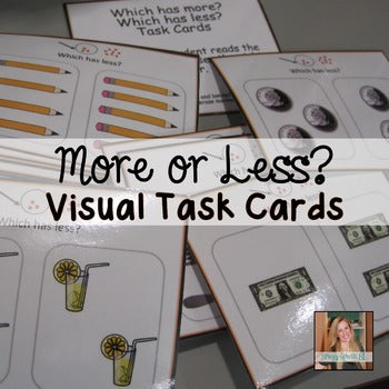 Identifying More and Less Task Cards