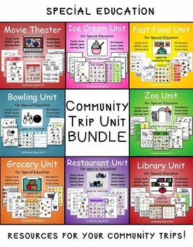 Community Trips BUNDLE for Special Education / Autism Classrooms