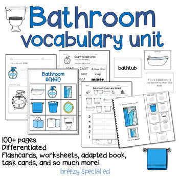 Bathroom Vocabulary Life Skills Unit (Special Ed and Autism Resource)