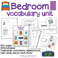 Bedroom Vocabulary Life Skills Unit for Special Education / Autism