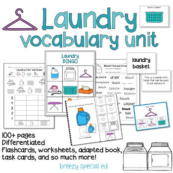 Laundry Vocabulary Life Skill Unit for Special Education
