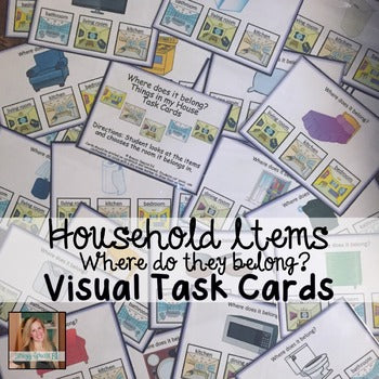 Where does it belong? Household Visual Task Cards for Special Education