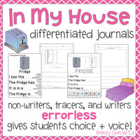 Errorless Journal Writing for Special Education - Household Items