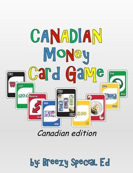 Canadian Money Math Identification Card Game