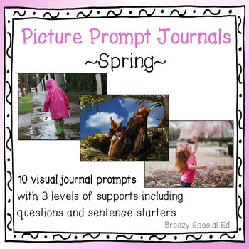 Picture Journal Prompts {Leveled Writing} Spring Themed