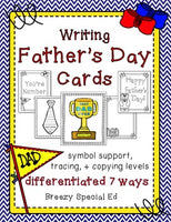 Father's Day Cards: Differentiated for ALL your Special Education Students