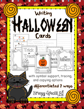 Halloween Cards: Differentiated for ALL your Students (special education)