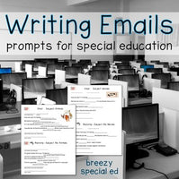 Email writing templates and lessons for special education classes