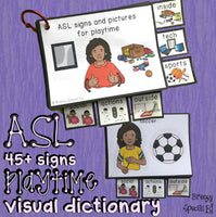 ASL (Sign Language) Playtime Visual Flashcard Dictionary