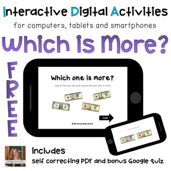 Which is More? ⋅ Digital PDF ⋅ Interactive FREE Activities for Special Education