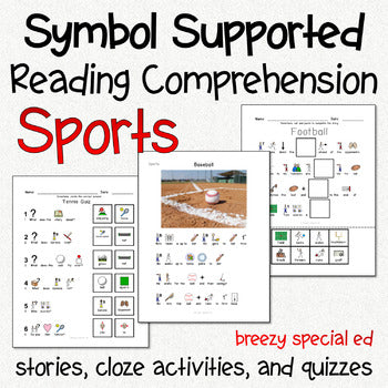 Sports - Symbol Supported Reading Comprehension for Special Ed