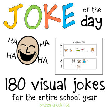 Joke of the Day with visual symbol support for Special Education and Autism