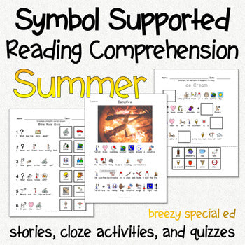 Summer - Symbol Supported Picture Reading Comprehension for Special Education