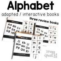 Alphabet Adapted Books (3 Review Books ONLY) REAL PICTURES