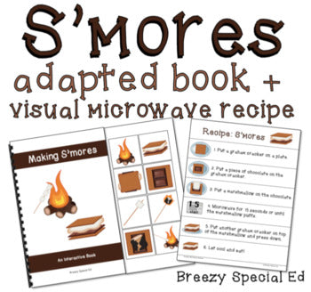 S'mores Visual Recipe and Adapted Book for Special Education