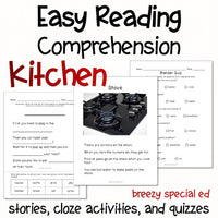 Kitchen - Easy Reading Comprehension for Special Education