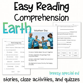 Earth - Easy Reading Comprehension for Special Education