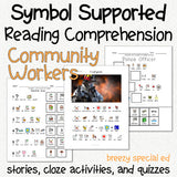 Community Workers - Symbol Supported Picture Reading Comprehension