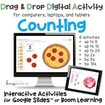 Counting and Skip Counting Interactive Digital Activities for Special Education