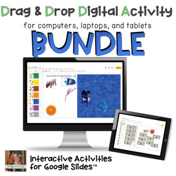 Distance Learning: BUNDLE of Interactive Drag and Drop Activities for Special Ed