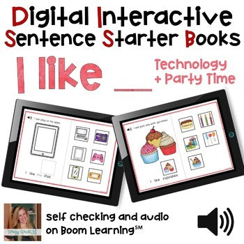 Digital Interactive Books - I Like - Sentencer Starter Books - Boom Cards™