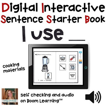 FREE Digital Interactive Book - I Use - Sentencer Starter Books - Boom Cards™