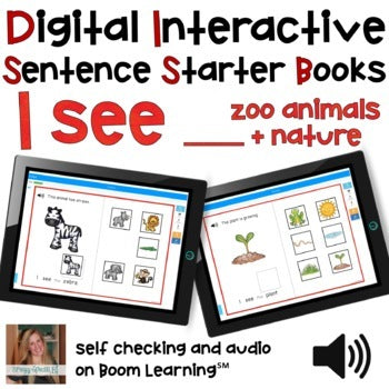 Digital Interactive Books - I See - Sentencer Starter Books - Boom Cards™