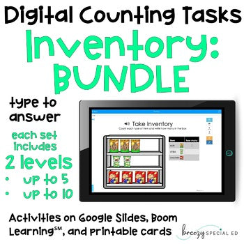 Inventory BUNDLE - Digital Counting Practice for Special Education