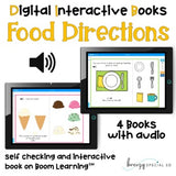 Digital Interactive Books - Food Directions - on Boom Cards™