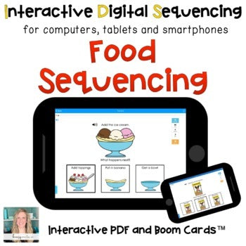 Digital Food Sequencing for Special Ed (Interactive PDF and Boom Cards)