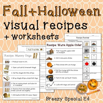 Halloween Fall Visual recipes for special education