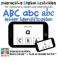 Digital ⋅ ABC case and font MATCH ⋅ Interactive PDF, Boom Cards, and Quiz