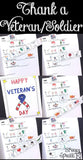 veteran day cards symbol support for inclusion and special education