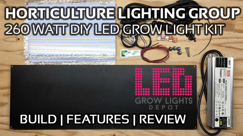 Horticulture Lighting Group HLG 260 Watt DIY LED Grow Light Build and Review