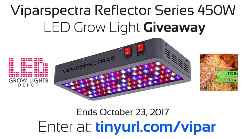 Viparspectra Reflector Series 450W LED Grow Light Giveaway