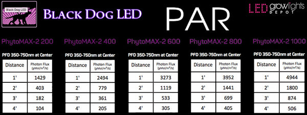 Black Dog LED PAR Map