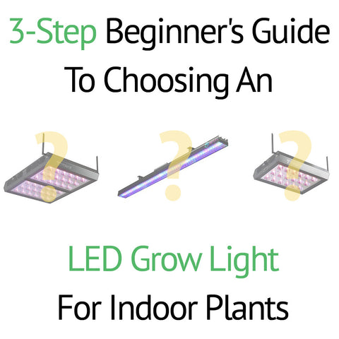 3 Step Beginner's Guide To Choosing an LED Grow Light for