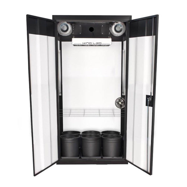 "SuperCloset SuperFlower 3.0 LED Soil Grow Cabinet 36"" x 24"" x 72""  - LED Grow Lights Depot"
