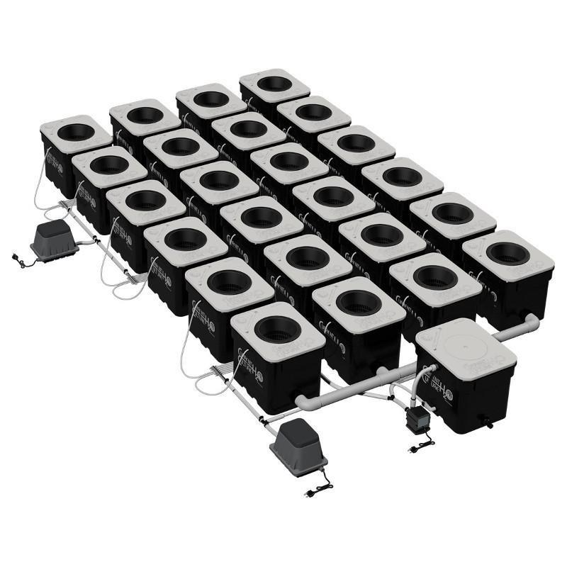 Current Culture H2O Under Current Double Barrel 24  - LED Grow Lights Depot