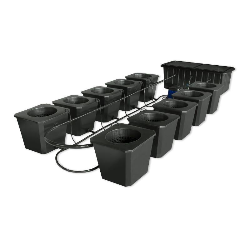 SuperCloset 10-Site Bubble Flow Buckets Hydroponic Grow System  - LED Grow Lights Depot