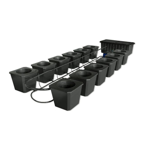 SuperCloset 12-Site Bubble Flow Buckets Hydroponic Grow System  - LED Grow Lights Depot