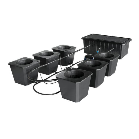 SuperCloset 6-Site Bubble Flow Buckets Hydroponic Grow System  - LED Grow Lights Depot