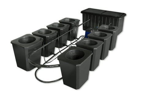 SuperCloset 8-Site Bubble Flow Buckets Hydroponic Grow System  - LED Grow Lights Depot
